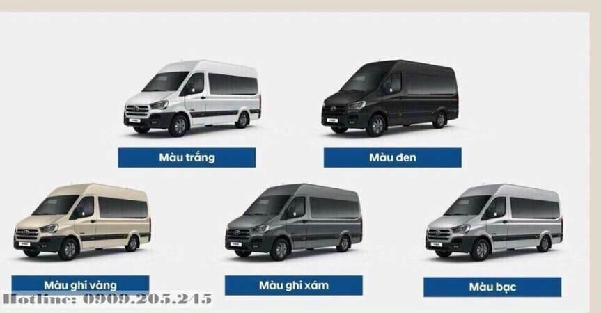 Bảng màu xe 16 chỗ Hyundai Solati 2019